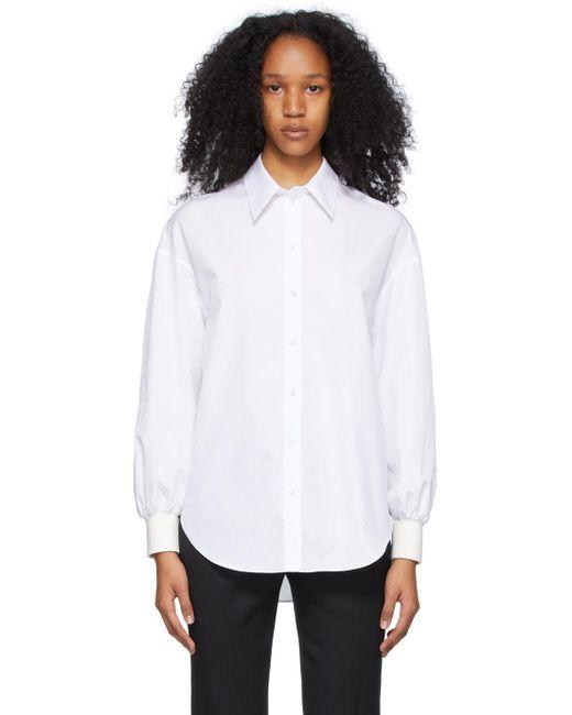Alexander McQueen ホワイト Cocoon Sleeve シャツ White