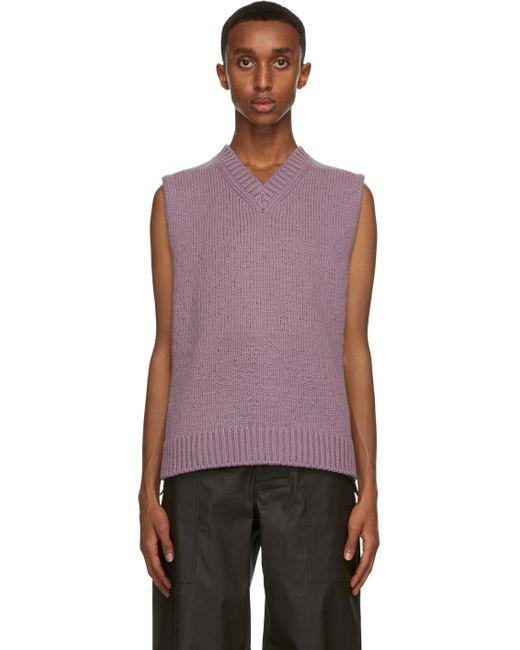 メンズ Bottega Veneta パープル ウール & カシミア セーター ベスト Purple