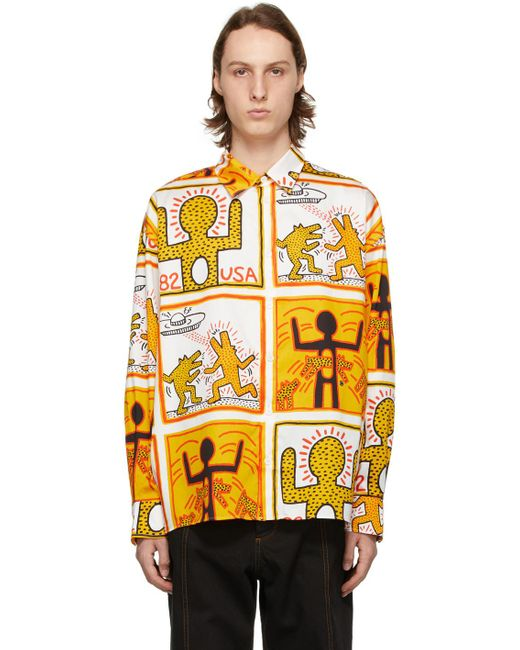 メンズ Etudes Studio Keith Haring Foundation エディション ホワイト Illusion シャツ Multicolor
