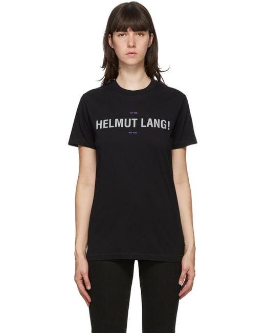 Helmut Lang ブラック リフレクティブ Standard T シャツ Black