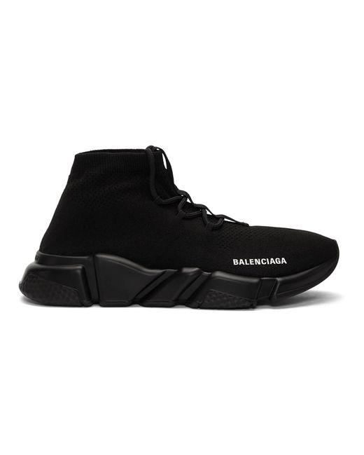 Balenciaga ブラック レースアップ スピード スニーカー Black