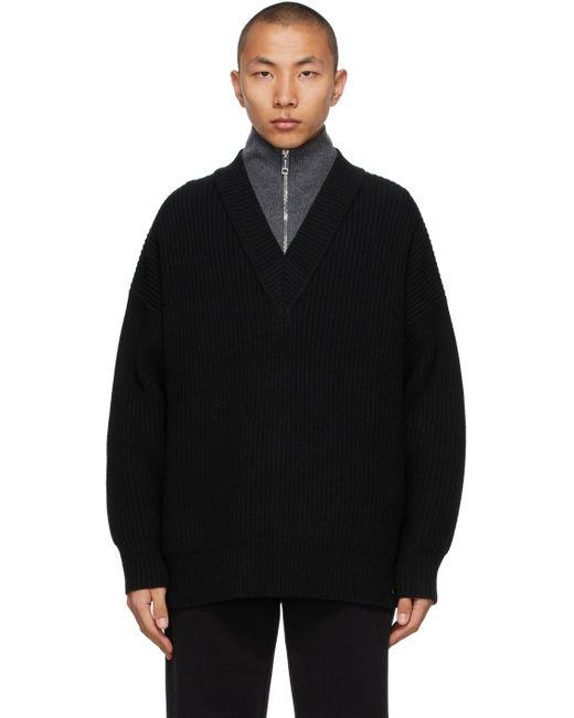 メンズ Burberry ブラック カシミア セーター Black