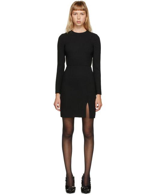 Valentino ブラック ウール クレープ ドレス Black