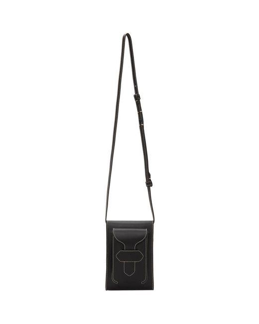 メンズ Maison Margiela ブラック クロスボディ メッセンジャー バッグ Black