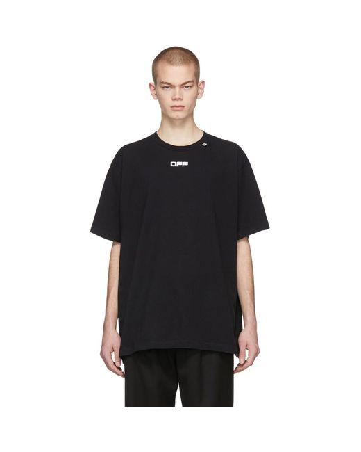 メンズ Off-White c/o Virgil Abloh ブラック Wavy Line ロゴ T シャツ Black