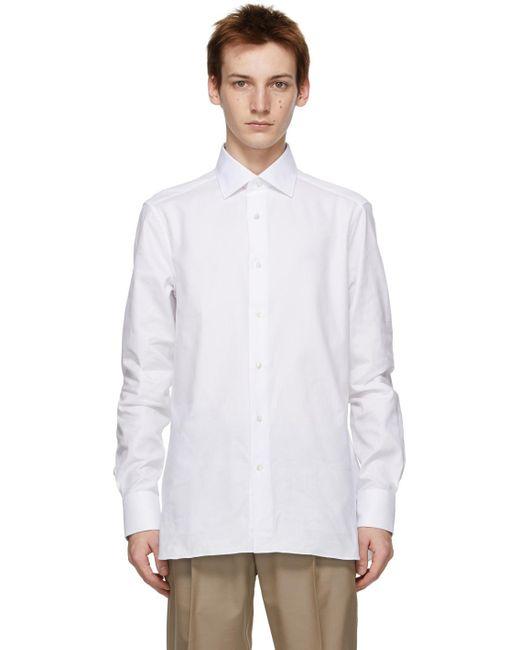 メンズ Ermenegildo Zegna ホワイト テーラード シャツ White