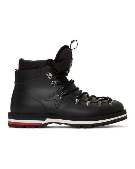 Moncler Black Men's Henoc Water-resistant Hiking Boots for men