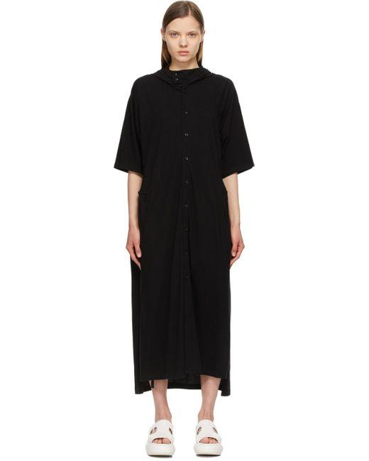 Yohji Yamamoto ブラック 30 Ultima Hooded ロング ドレス Black