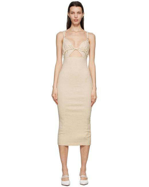 Jacquemus ベージュ La Robe Pila ドレス Natural