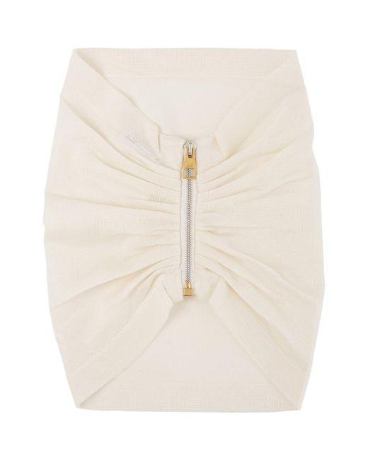 メンズ Dunhill Ssense 限定 ホワイト ジッパー ネックウォーマー White