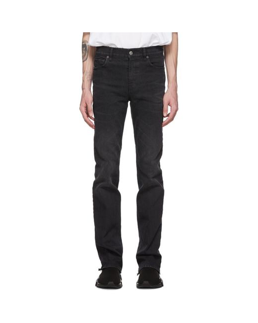 Balenciaga Black Back Cuff Jeans for men
