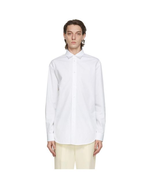 メンズ Jil Sander ホワイト Essential シャツ White