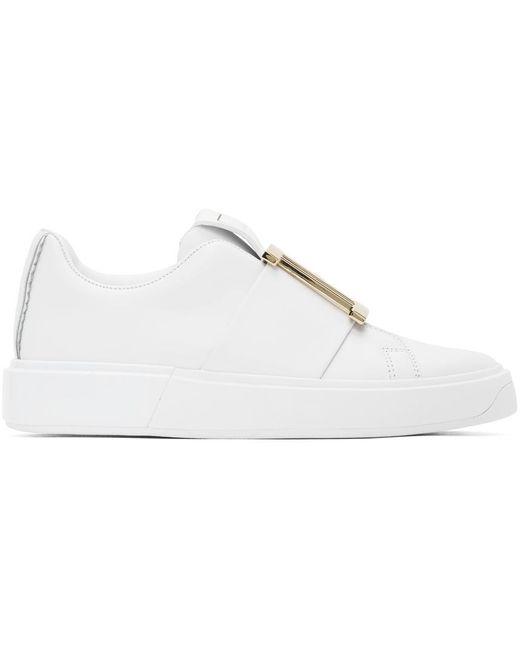 Balmain ホワイト Buckle B-court スニーカー White