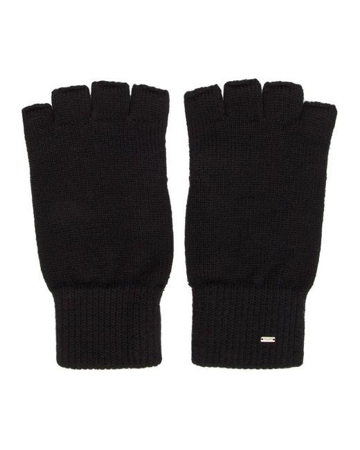 Gants sans doigts en laine noirs Saint Laurent pour homme en coloris Black
