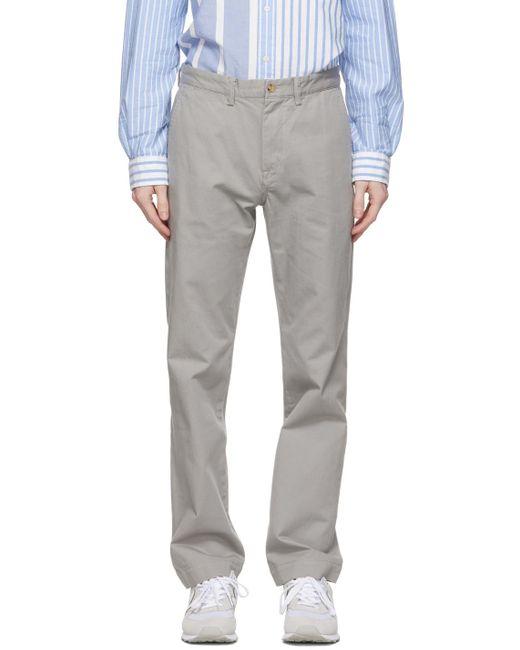 メンズ Polo Ralph Lauren グレー チノ パンツ Gray