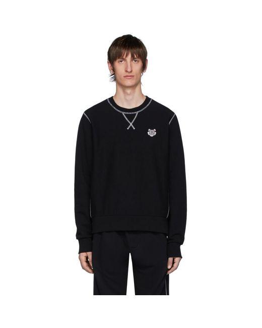 メンズ KENZO ブラック タイガー クレスト スウェットシャツ Black