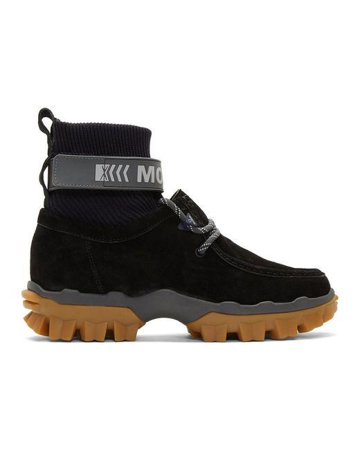 Moncler Black Henke Boots for men