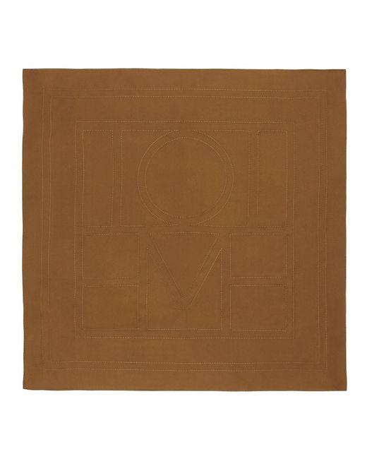 Totême  ブラウン シルク Pantelleria スカーフ Brown