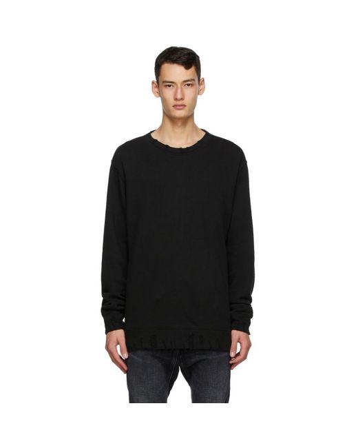 メンズ R13 ブラック ビンテージ スウェットシャツ Black