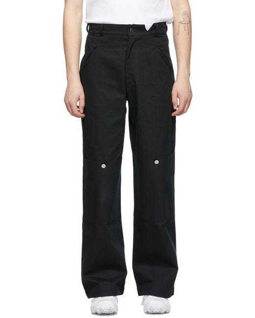 メンズ Spencer Badu ブラック カーゴ パンツ Black