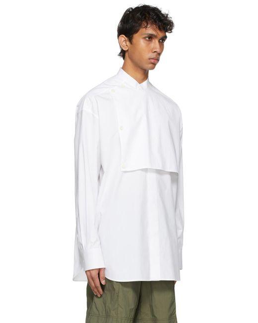 メンズ Valentino ホワイト Front Plastron シャツ White