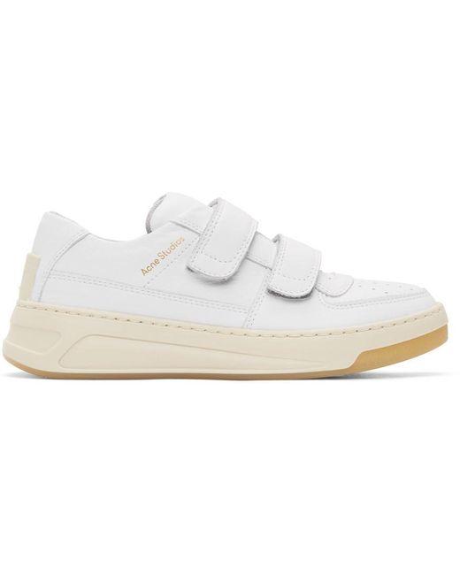 メンズ Acne ホワイト Perey スニーカー White