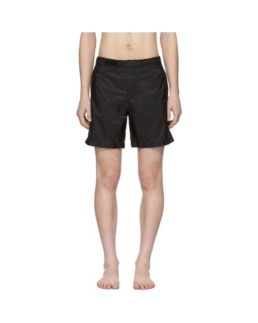 17c1f4f297 Lyst - Prada Black Nylon Swim Shorts in Black for Men