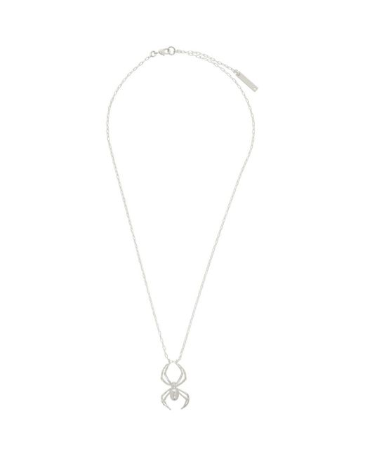 Ambush Metallic Silver Spider Charm Necklace