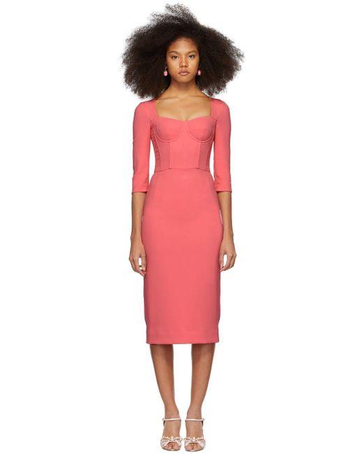 Dolce & Gabbana ピンク クレープ ビスチェ ドレス Pink