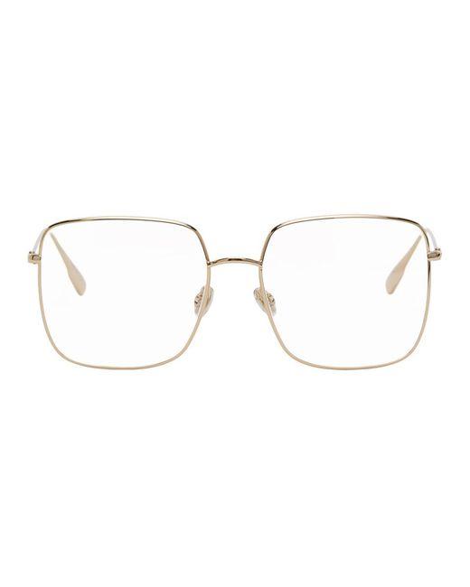 Dior ゴールド Stellaire01 メガネ Metallic