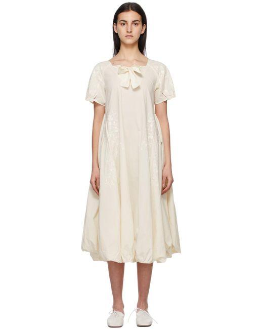 Renli Su オフホワイト Rosa ドレス White