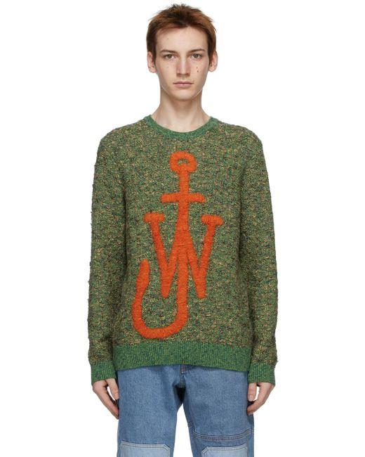 メンズ J.W. Anderson グリーン Textured Anchor セーター Green