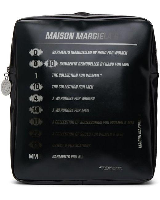 MM6 by Maison Martin Margiela ブラック Motorcross ロゴ バックパック Black