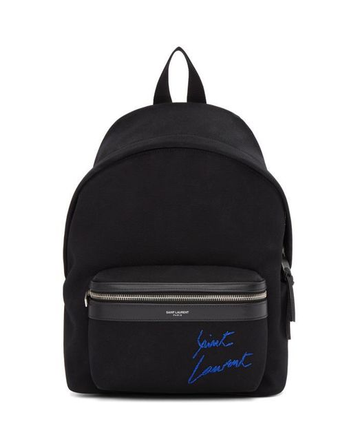 Saint Laurent   Black Embroidered Mini City Backpack   Lyst