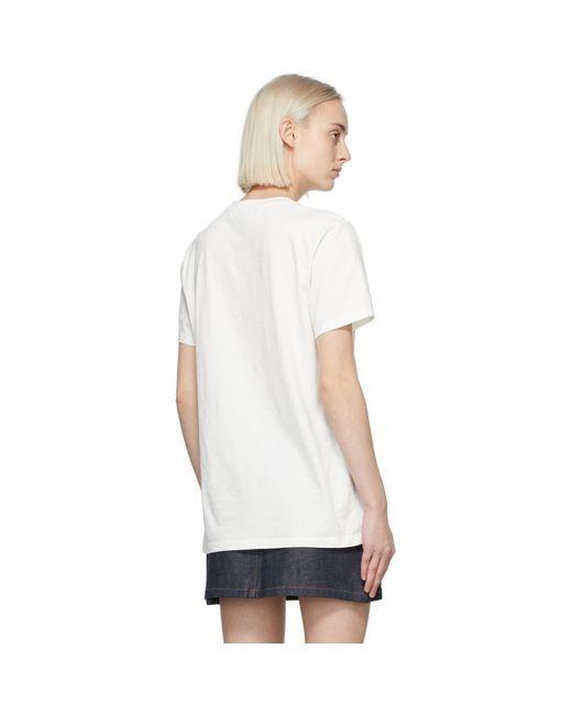 Maison Kitsuné オフホワイト Double Fox Head T シャツ White