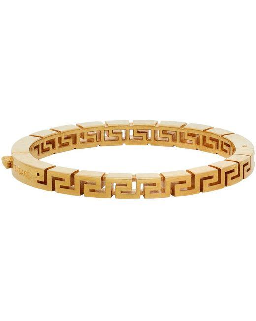 Versace ゴールド Greca ブレスレット Metallic