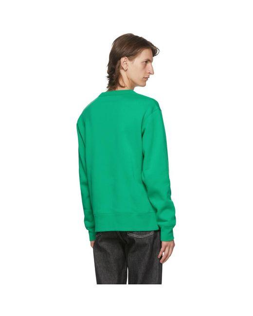 メンズ Acne グリーン Fairview パッチ スウェットシャツ Green