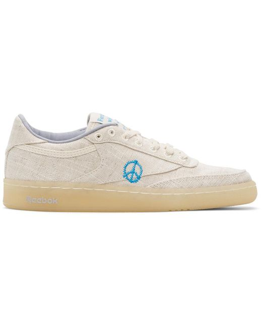 STORY mfg. Natural Beige Reebok Edition Club C 85 Sneakers for men