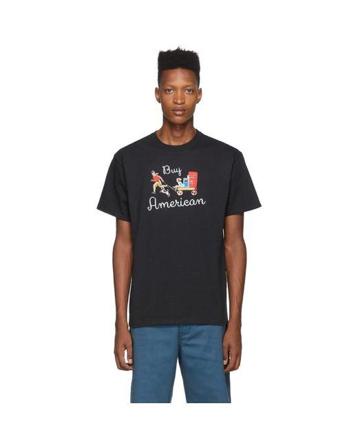 メンズ Noah NYC ブラック Buy America T シャツ Black