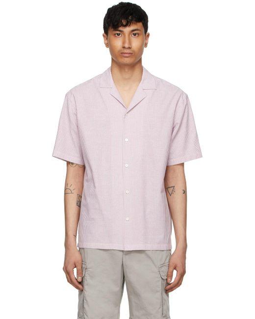 メンズ Z Zegna #usetheexisting コレクション ホワイト ストライプ ショート スリーブ シャツ Pink