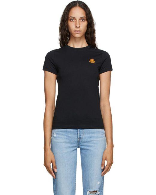KENZO ブラック Tiger Crest T シャツ Black