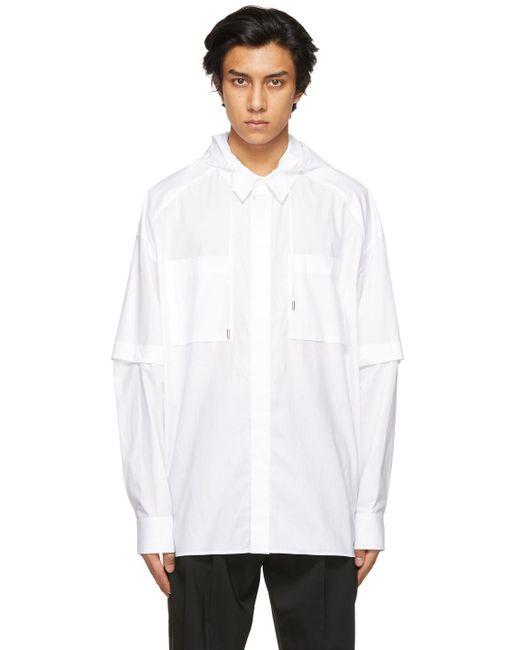 メンズ Juun.J ホワイト シャツ White