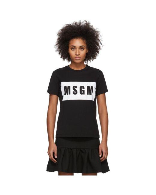 MSGM ブラック ボックス ロゴ T シャツ Black