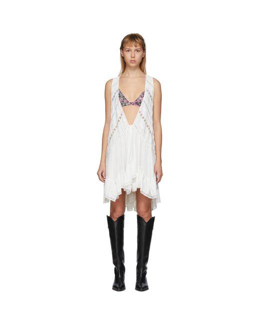 Isabel Marant ホワイト Lacre ドレス White