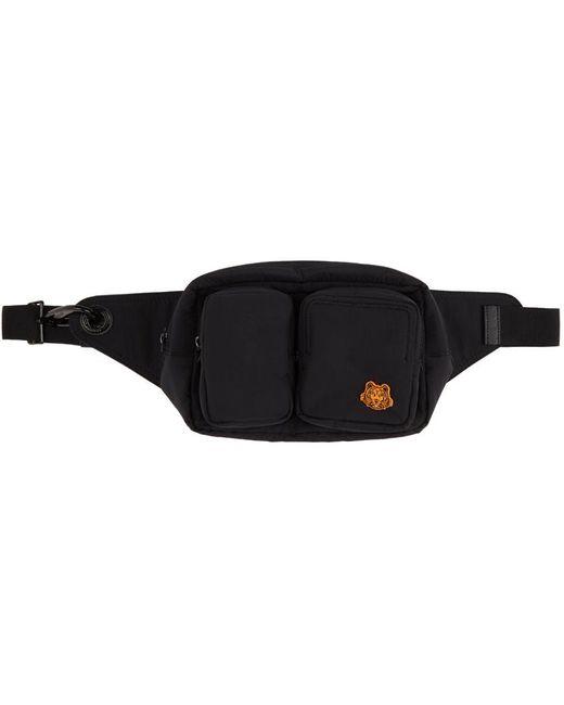 KENZO ブラック Tiger Crest ベルト バッグ Black