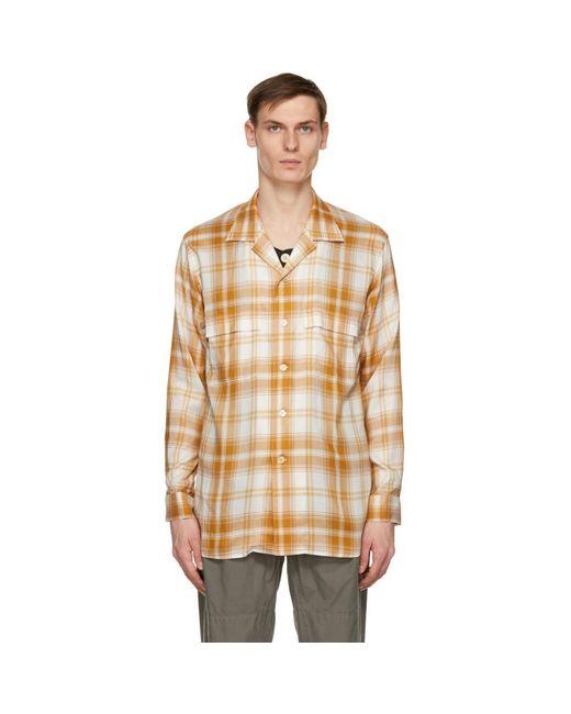 メンズ Bed J.w. Ford オレンジ And オフホワイト Inner Vest シャツ Multicolor