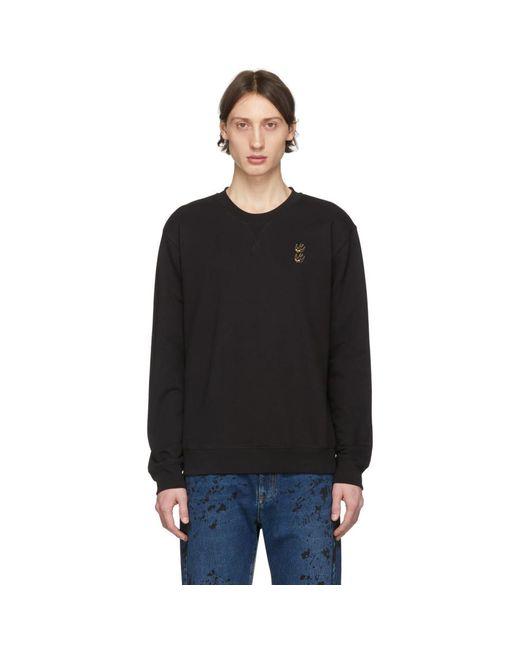 メンズ McQ Alexander McQueen ブラック エンブロイダリー スワロー スウェットシャツ Black