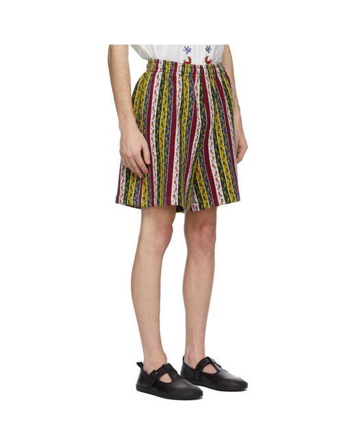 メンズ Bode マルチカラー Primary Stripe トラック ショーツ Multicolor