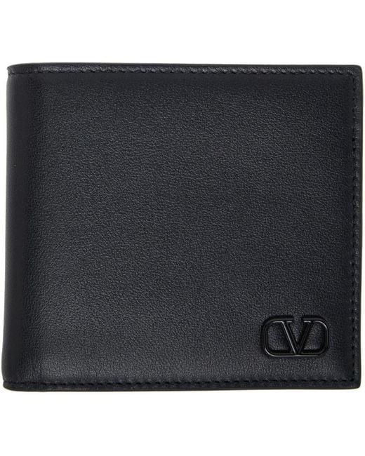 メンズ Valentino Garavani コレクション ブラック Vlogo シグネチャ ウォレット Black