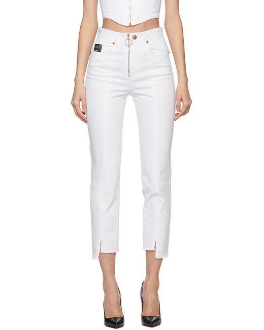 Versace Jeans ホワイト クロップド ジーンズ White
